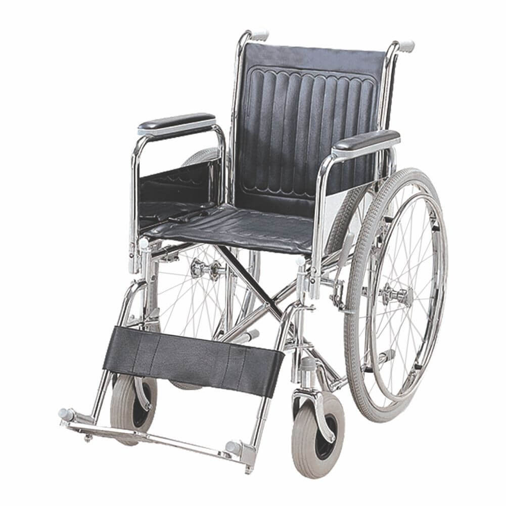 Folding Wheel Chair (Detachable Armrest & Footrest) Image