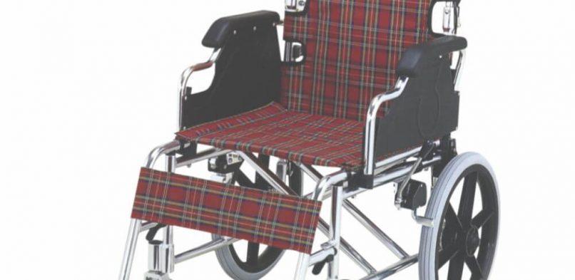 Folding Wheel Chair (Detachable Armrest & Footrest with Hand Brake)