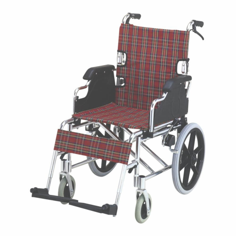 Folding Wheel Chair (Detachable Armrest & Footrest with Hand Brake) Image