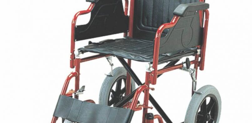 Folding Wheel Chair (Detachable Armrest & Footrest with Small Wheels)