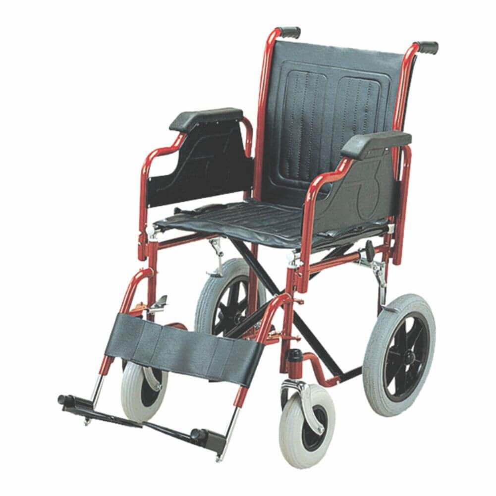 Folding Wheel Chair (Detachable Armrest & Footrest with Small Wheels) Image