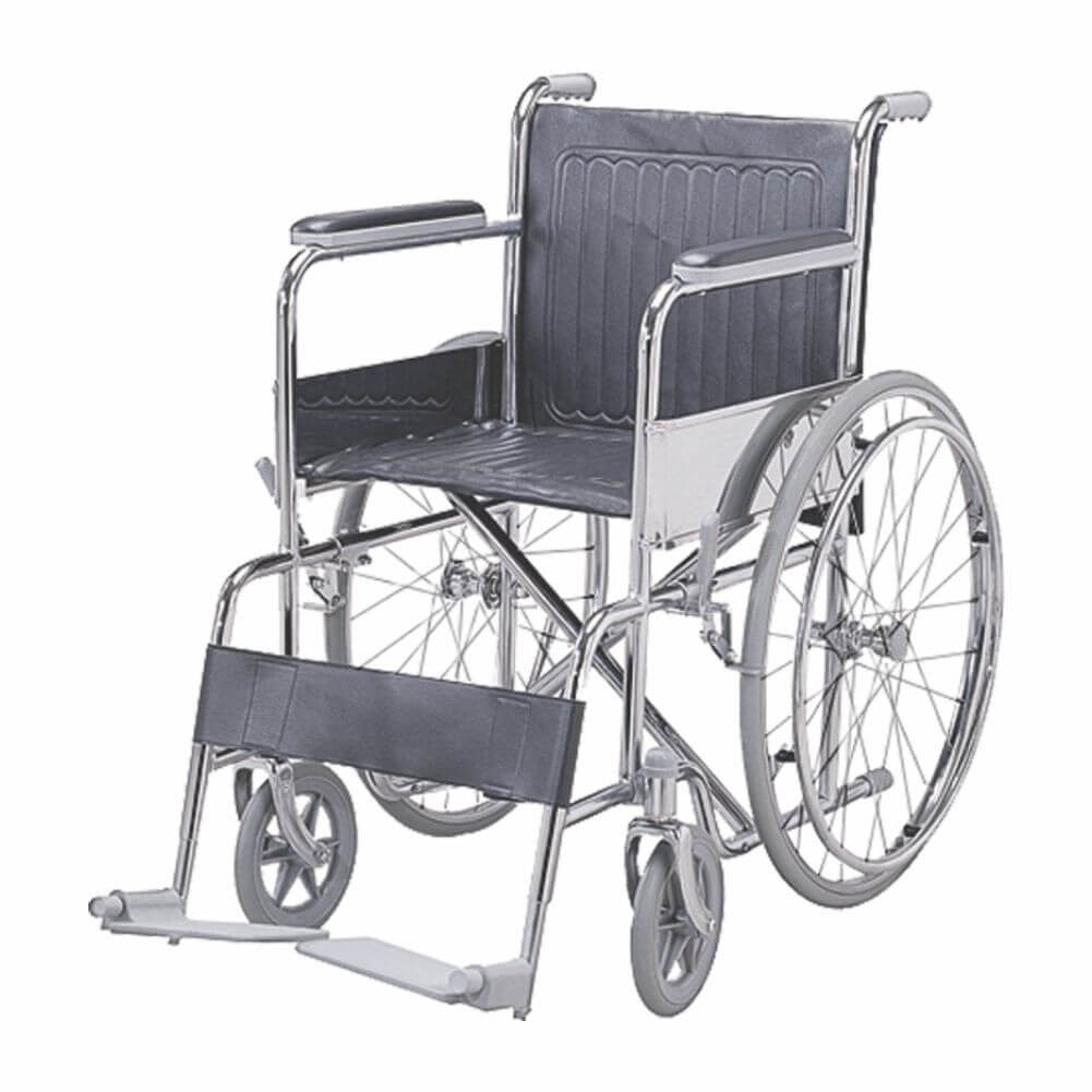 Folding Wheel Chair (Fixed Armrest & Footrest) Image